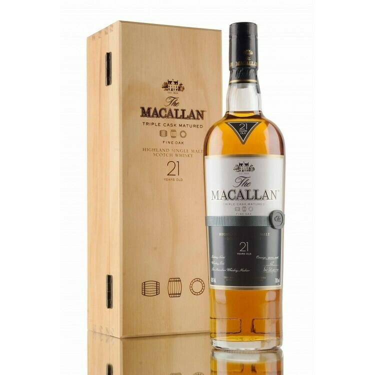 Image of   Macallan Fine Oak 21 Yo Speyside Single Malt Fl 70