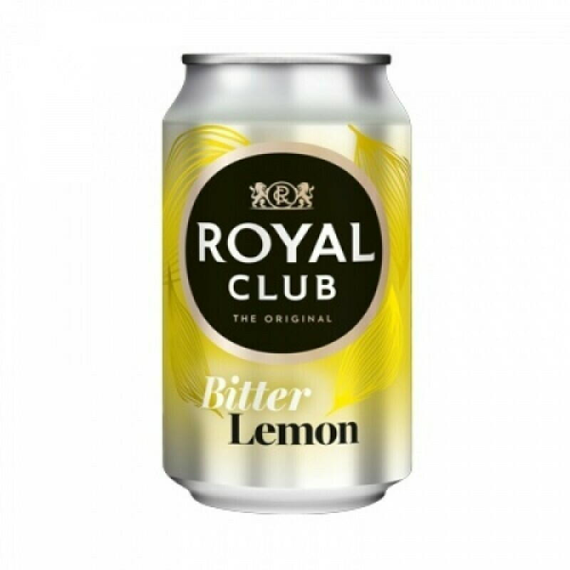 Image of   Royal Club Bitter Lemon, Dåse 33cl Kasse