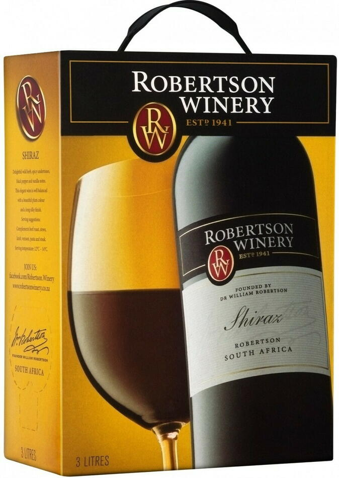 Image of   Robertson Winery Shiraz (Bib) Krt 300
