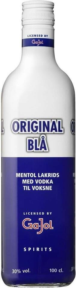 Image of   Ga-jol Original Blå / Mentol Lakrids 30% 1 Ltr