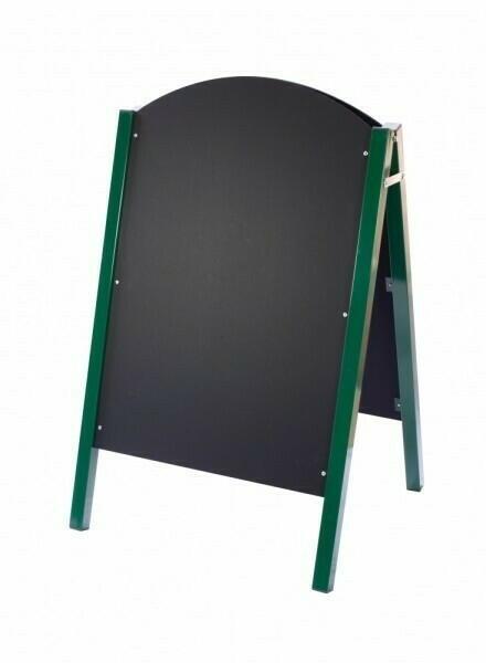 Image of   Grøn Metal Sided A-board 1100mm x 680mm