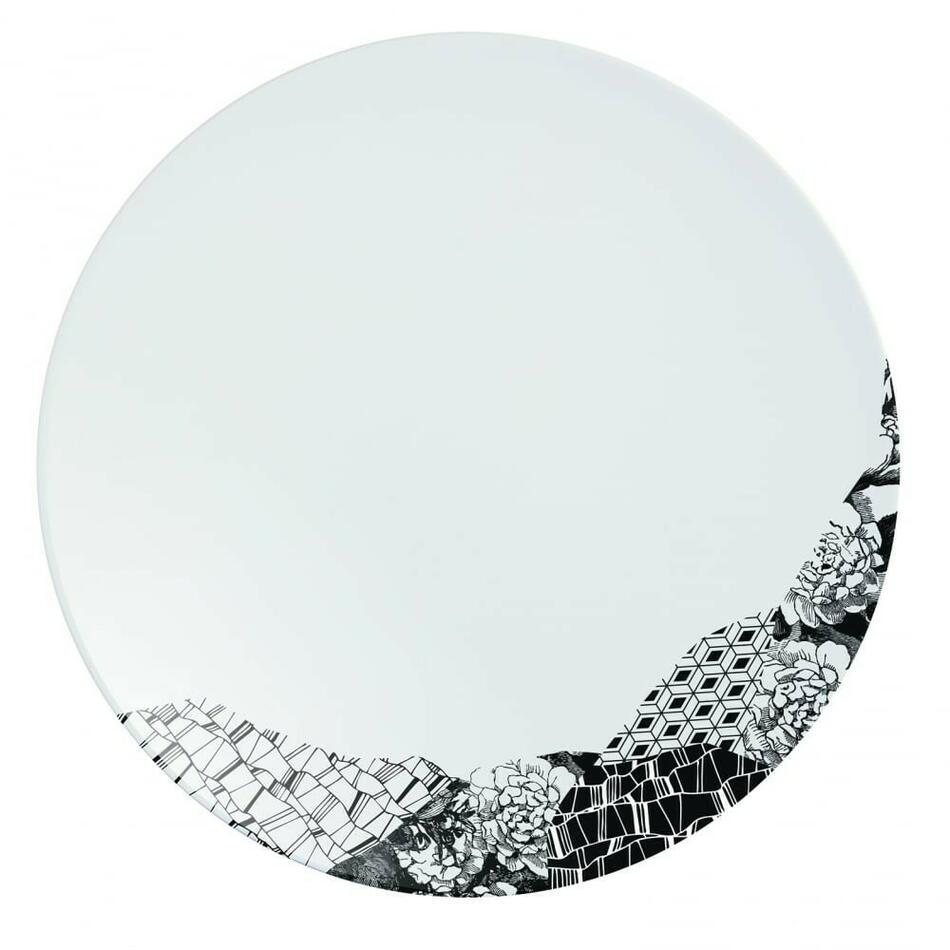 Image of   Fragment Sort Tallerken 28,5cm