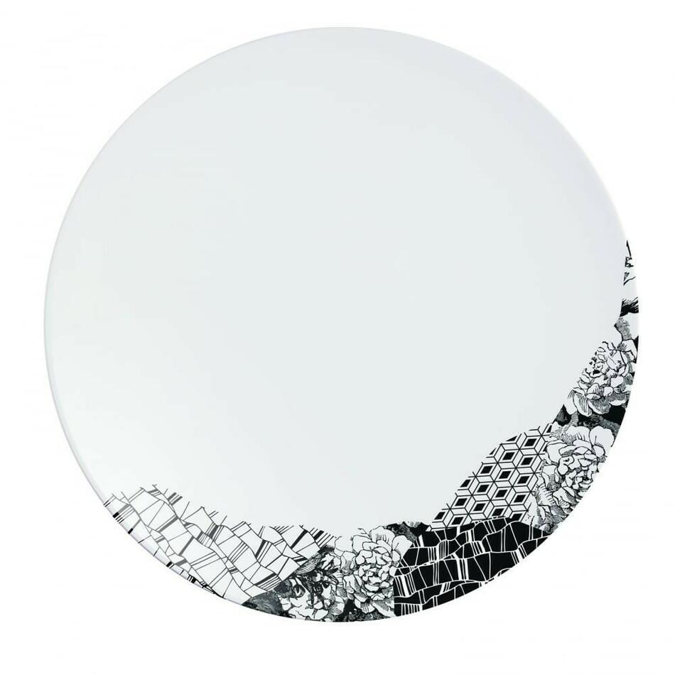 Image of   Fragment Sort Tallerken 25,5cm