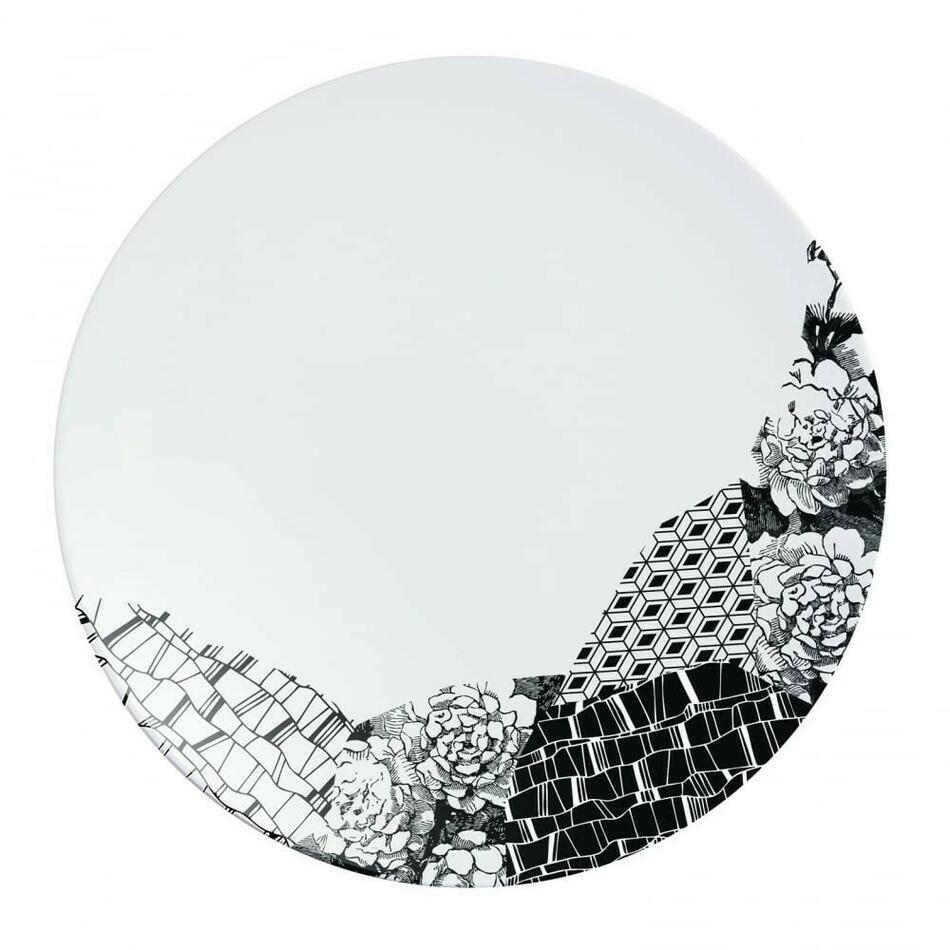 Image of   FRAGMENT Sort Tallerken 21,5cm