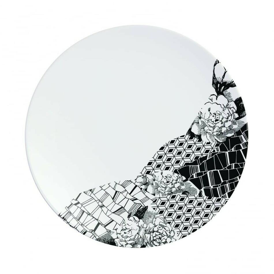 Image of   Fragment Sort Tallerken 16cm
