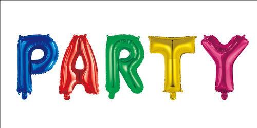 """Image of   Ballon """"Party"""" 35 Cm. Flerfarvet"""