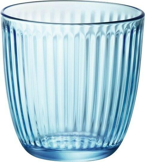 Image of   Bormioli Line drikkeglas, blå, 20 cl