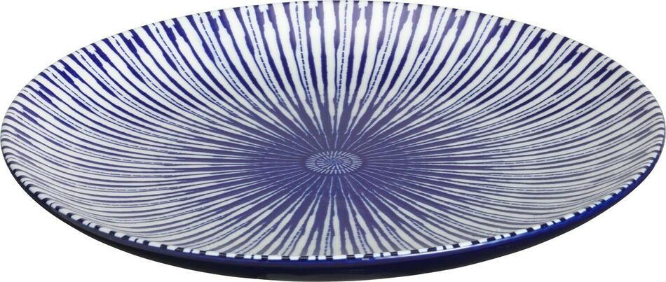 Image of   Porto tallerken flad blå ø20,5 cm