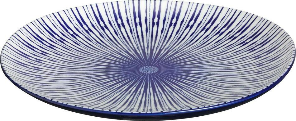 Image of   Porto tallerken flad blå ø26 cm