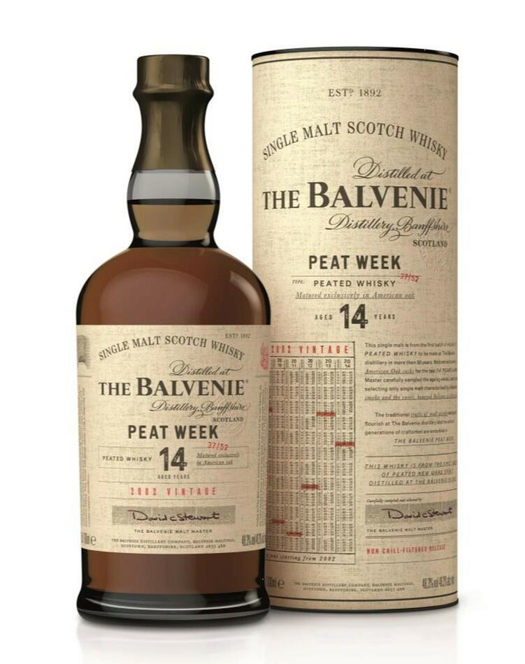 Image of Balvenie Peat Week 14 Yo Speyside Single Malt Fl 70