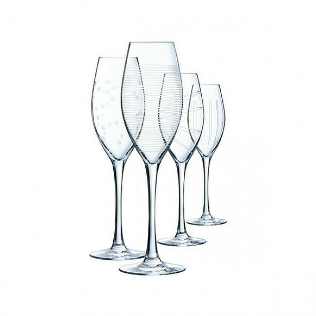 Image of   Champagneglas 24cl ILLUMINATION (4stk)