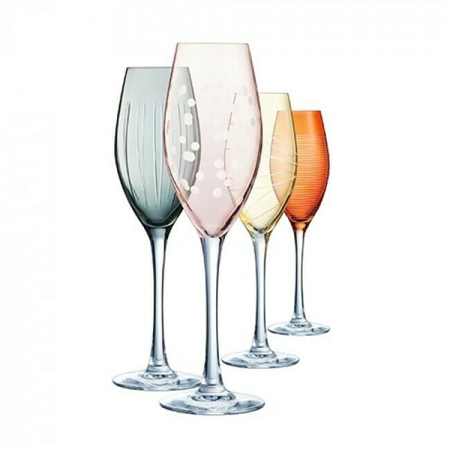 Image of   Champagneglas 24cl ILLUMINATION COLORS (4stk)