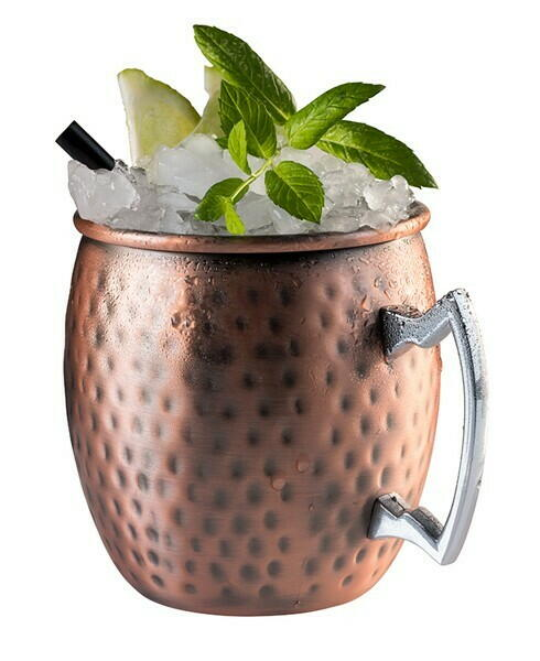 Image of   Antik Kobber Cup MOSCOW MULE- Hammeret