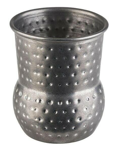 Image of   Barrel krus MINI SHOT- Hammeret Antik Stål (4stk)
