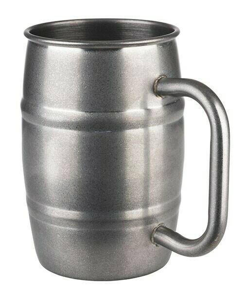 Image of   Barrel mug-BEER MUG- Antik Stål