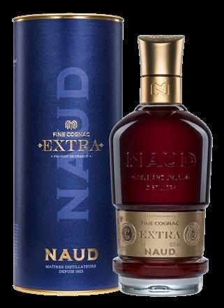 Image of   Naud Extra Fine Cognac i Gaverør