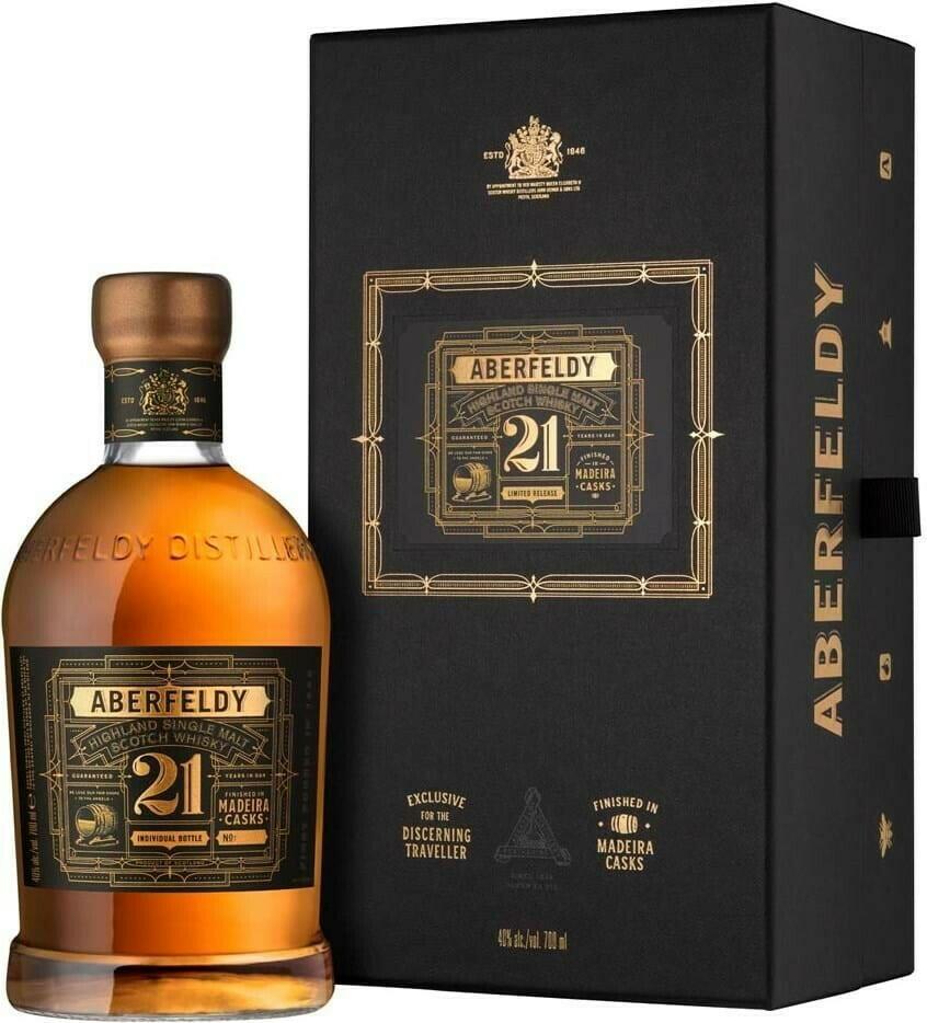 Image of   Aberfeldy 21 YO Madeira Cask Highland Single Malt 70 cl.
