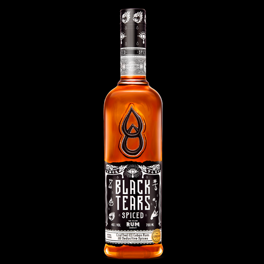 Image of   Black Tears Cuban Spiced Rum 70 Cl.