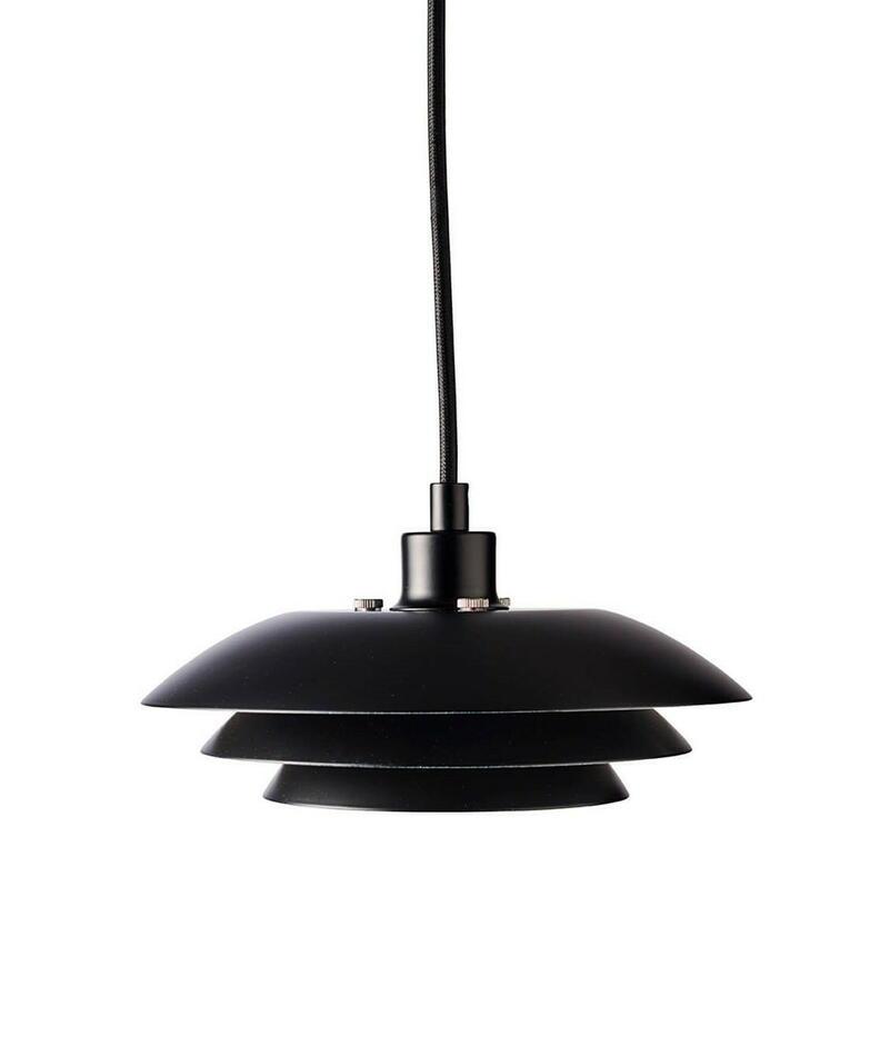 Image of   DL20 gulvlampe Mat Sort H12 D20