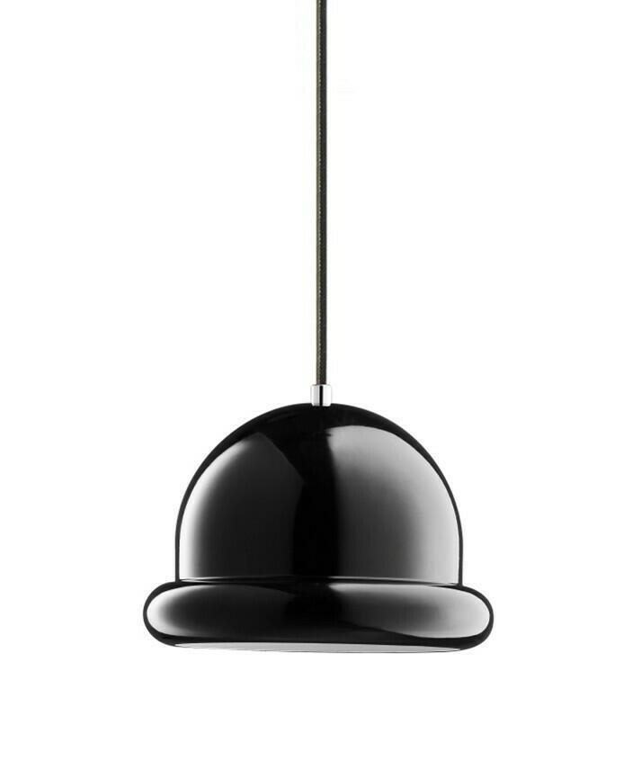 Image of   Hattrick Pendel Lampe Sort H16 D23