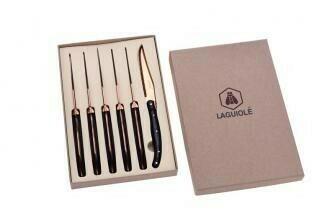 Image of   Laguiole 6 steakknive med rosaguld blad