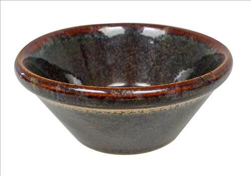 Image of   Dipskål Konisk 10 X 4,5 Cm Grøn/brun Stentøj