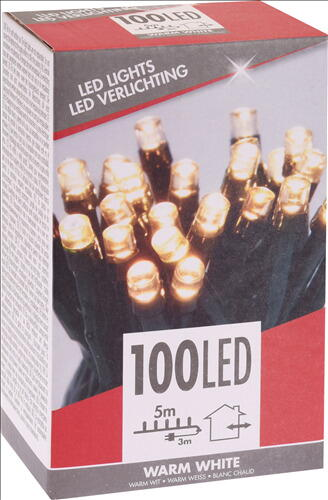 Image of   LYSKÆDE UDENDØRS 100 LED LYS VARM HVID TIL 220 V