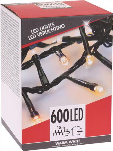 Image of   LYSKÆDE UDENDØRS 600 LED LYS VARM HVID TIL 220 V