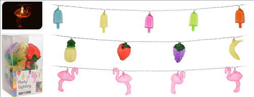 Image of   Party Lys Plastic 10 Stk.3 Ass Designs Batt. 2 X Aa