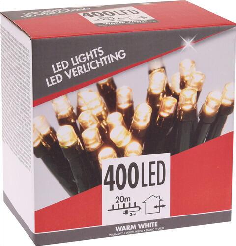Image of   LYSKÆDE UDENDØRS 400 LED LYS VARM HVID TIL 220 V