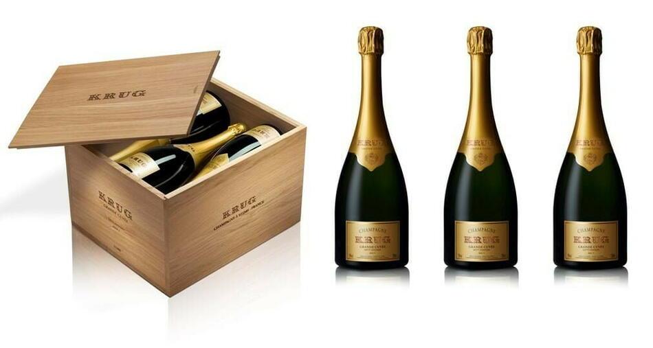Image of   Krug Champagne Grande Cuvée (2x2003/2004/2005) Kasse 75