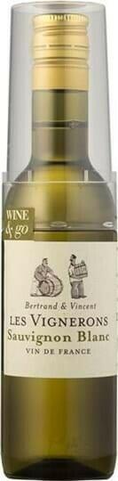 Image of   Les Vignerons Sauvignon Blanc M/glas (12x18,75cl) Fl 18,75