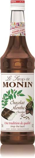Image of   Monin Syrup Chocolate Mint / Chokolade Mint Fl 70