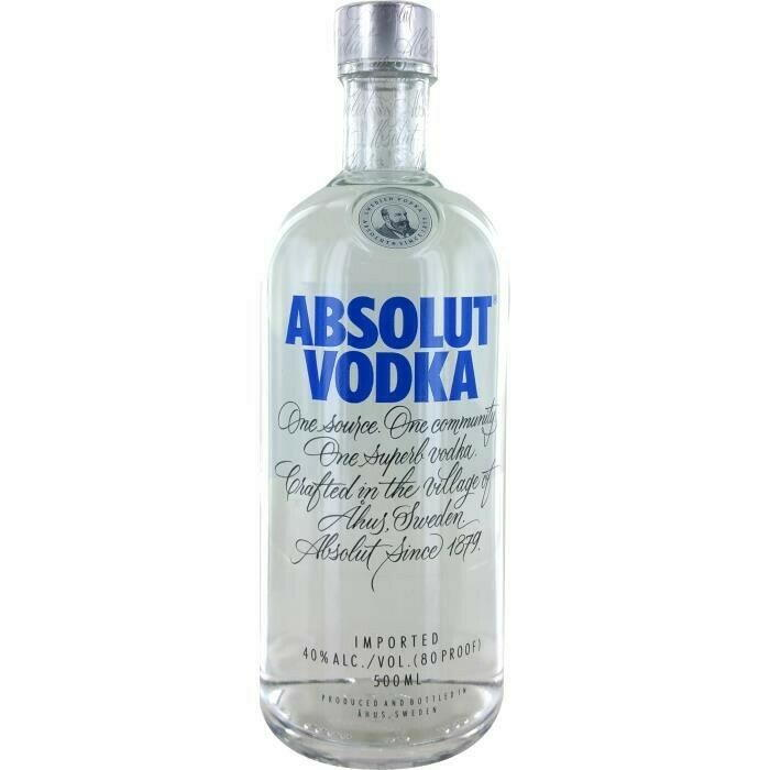 Image of   Absolut Vodka Fl 50