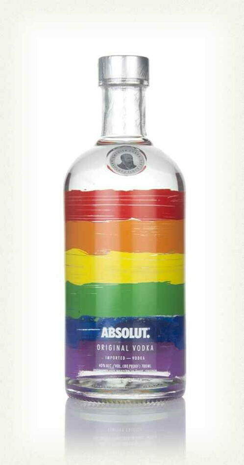 "Image of   Absolut Vodka Special Edition ""Rainbow"" Fl 70"