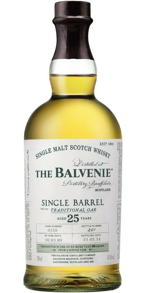 Image of   Balvenie Single Barrel 25 Yo, Cask 514, 1990/2015 Fl 70