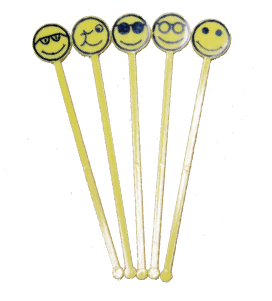 Image of   200stk Drinkspind Smiley 18cm