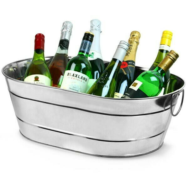 Image of   Galvaniseret stål Oval Party Tub