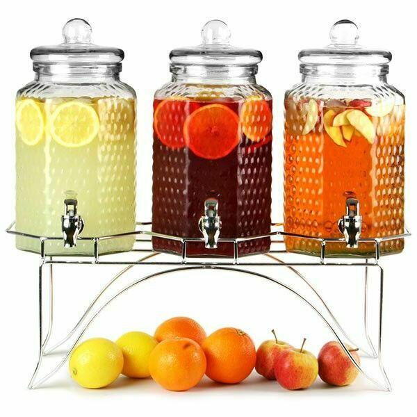 Image of   Triple drinks dispenser med stander 12