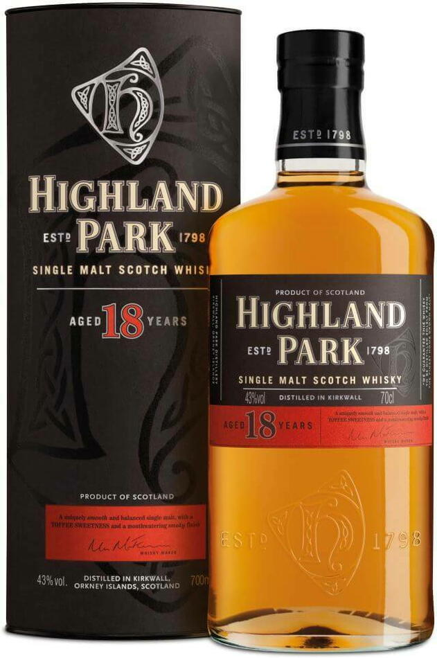 Image of   Highland Park 18 Yo Single Malt Scotch Fl 70
