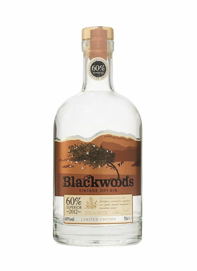 Image of   Blackwood's 2012 Superior Dry Gin Fl 70