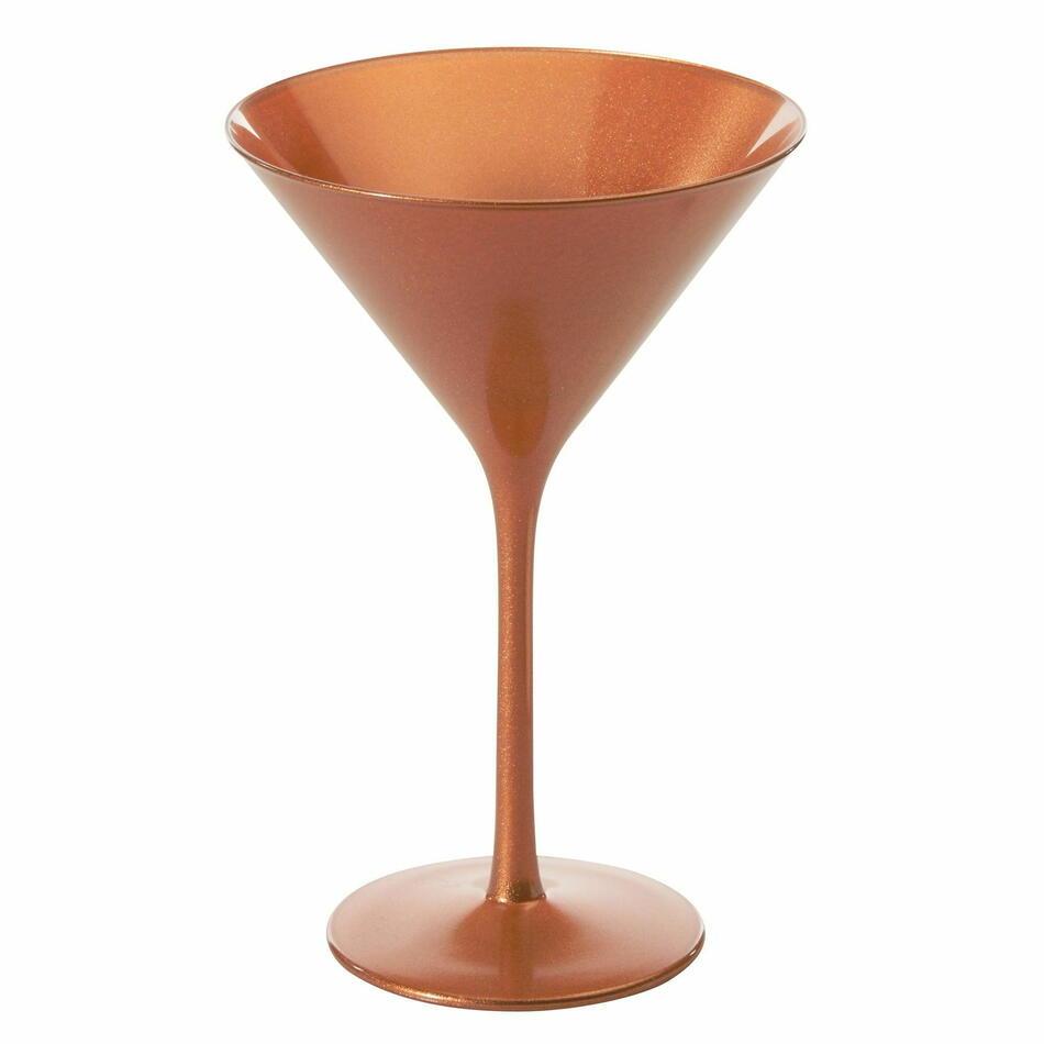 Image of   Bronze Martini Glas 240ml Glossy 6stk.