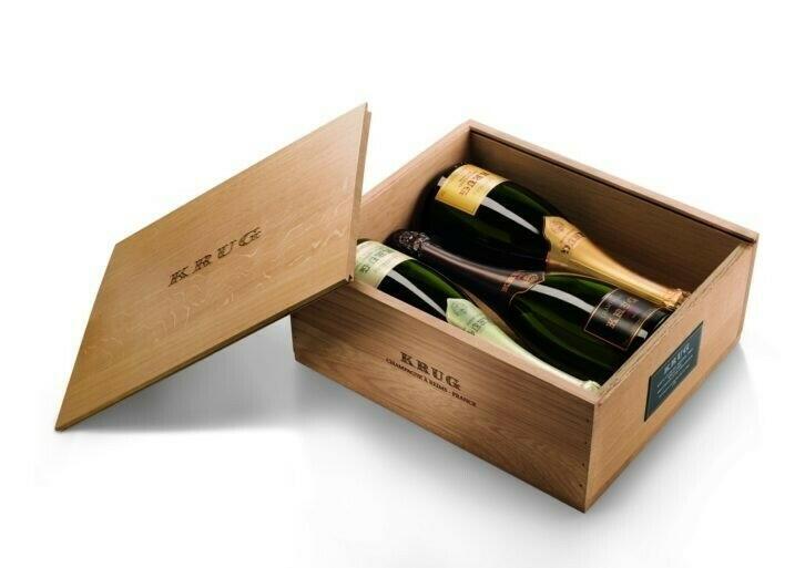 Image of   Krug Champagne Grande Cuvée & Vintage3(2x3 75cl) Kasse 75