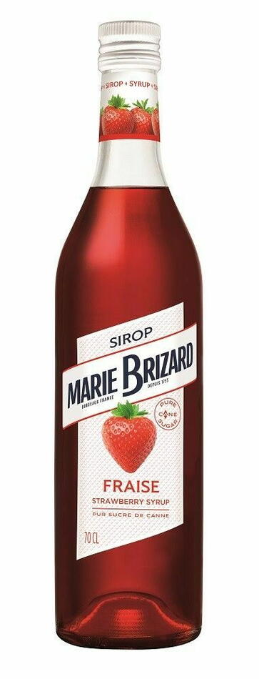 Image of   Marie Brizard Sirup De Fraise / Jordbær Fl 70