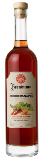 Image of   Brøndums Kryddersnaps Rabarber & Ingefær Fl 50