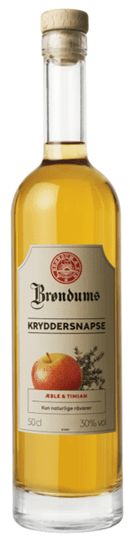 Image of   Brøndums Kryddersnaps Æble & Timian Fl 50