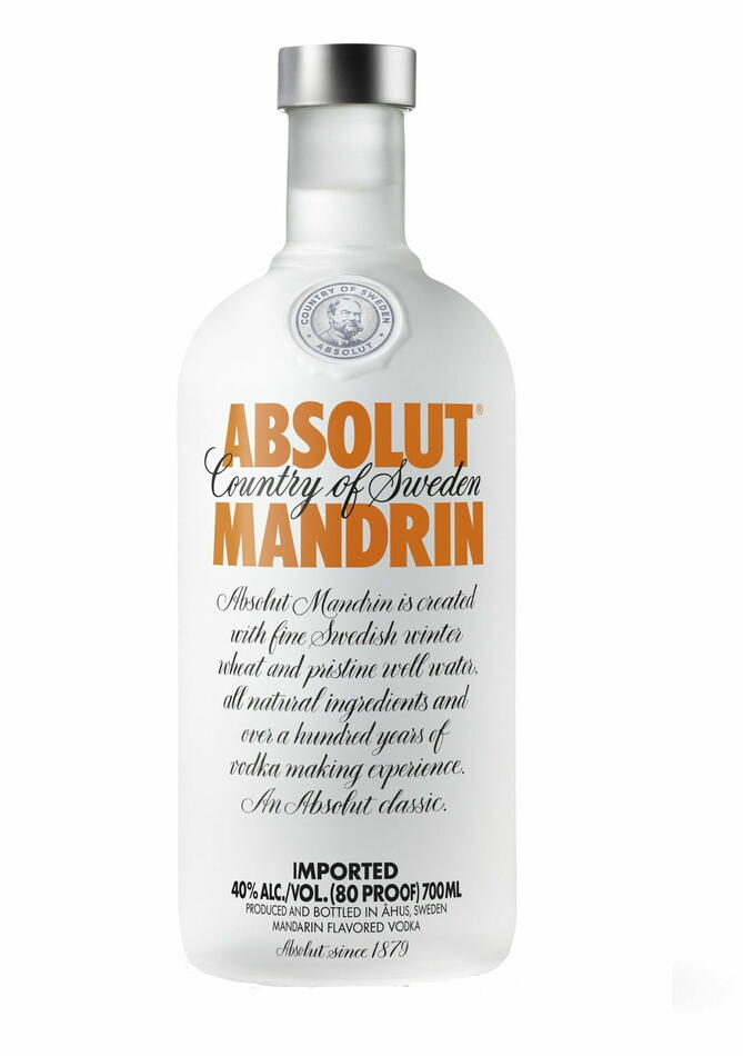 Image of   Absolut Vodka Mandrin Fl 70