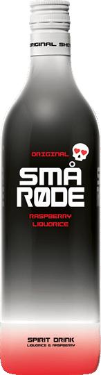 Image of   Små Røde Raspberry Liquorice 1 Ltr