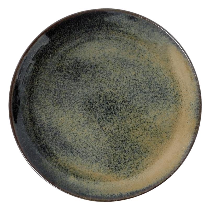 Image of   Tallerken 22cm Brun stentøj