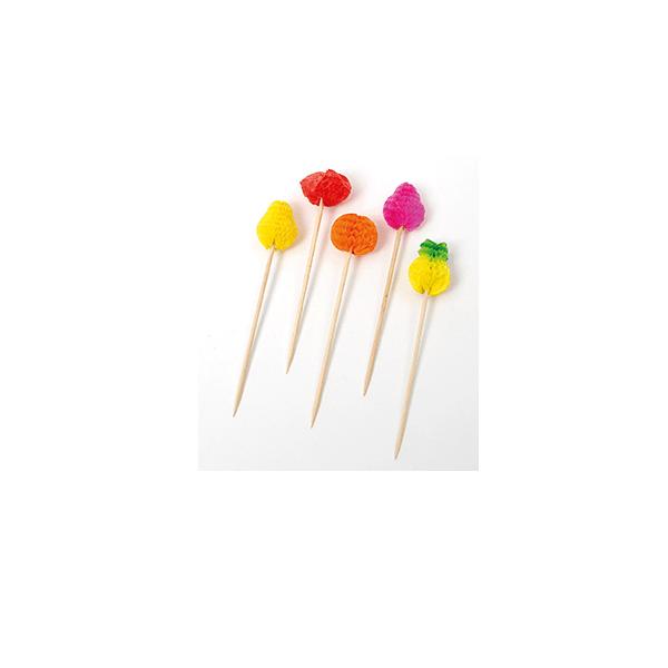 Image of   Cocktailspyd frugt 100 mm 100 stk.